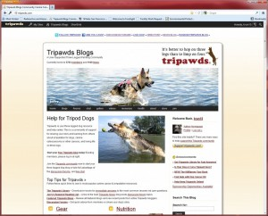 Tripawds log in
